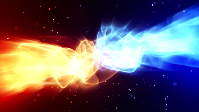 fire and ice seamless loop background - ice on fire video stock e b–roll