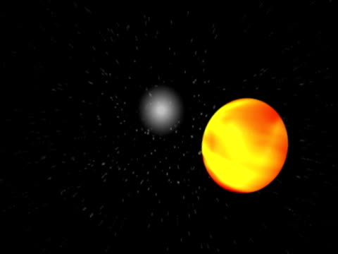 Fire Ball In Space Computer generated space background art and craft product stock videos & royalty-free footage