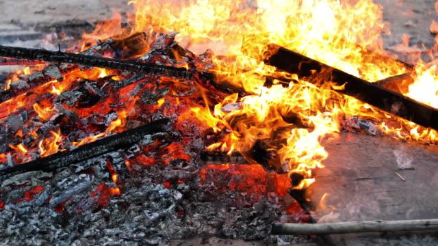 Fire burning video