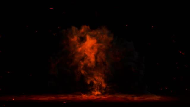 vídeos de stock, filmes e b-roll de nuvem de fogo estourando - fogo