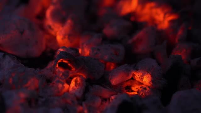 fire coals - уголь стоковые видео и кадры b-roll