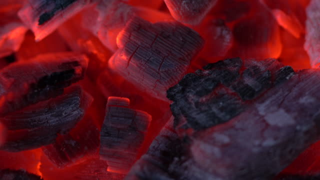 Fire coals Fire coals close up view coal stock videos & royalty-free footage