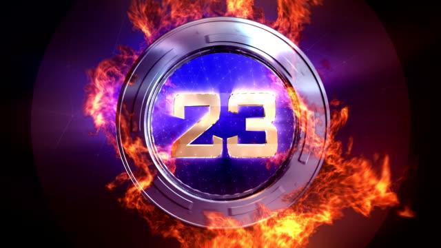 HD Fire Countdown video