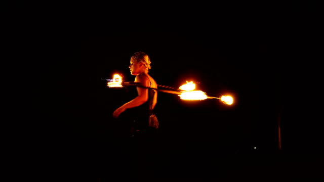 fire dancer, fire performer. - circus стоковые видео и кадры b-roll