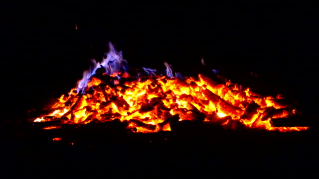 fire, embers burning overnight video