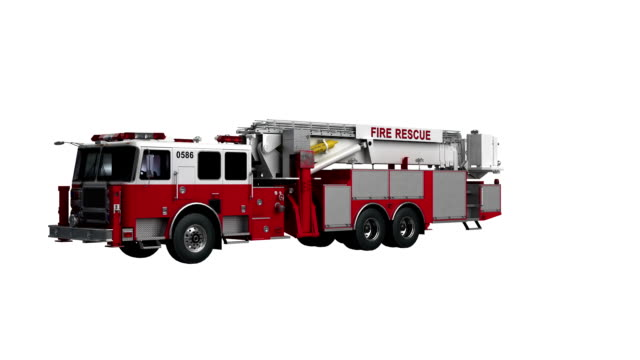 Fire Engine USA spin isolated with luma matte