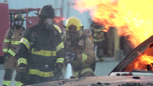 Fire fighting crew video