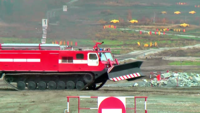 Fire fighting vehicle MPT-521 moves video