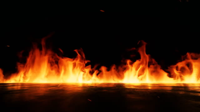 fire flame background 4k stock video