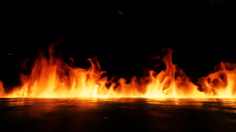 vídeos de stock e filmes b-roll de fire flame background 4k stock video - chama