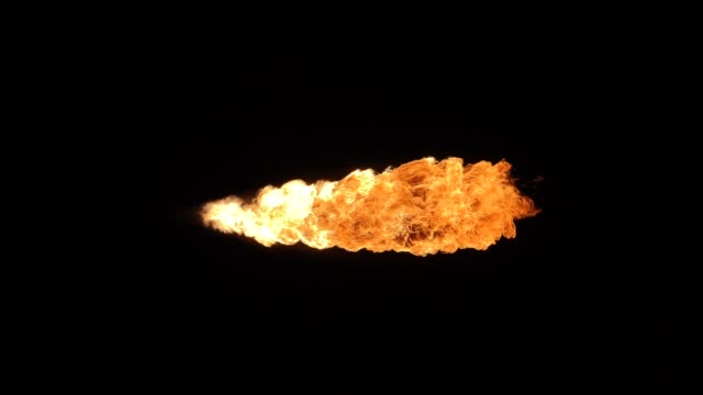 Fire flame in slowmotion, shooting with high speed camera. video