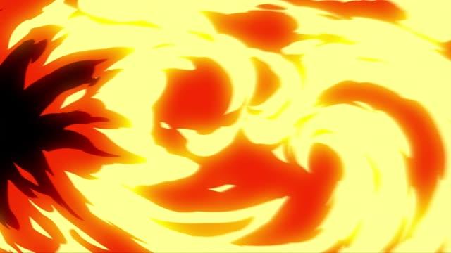 vídeos de stock, filmes e b-roll de animação de transição de chama de fogo com canal alfa - ilustração e pintura