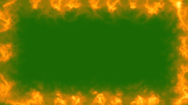 Fire Frame - Green Screen video