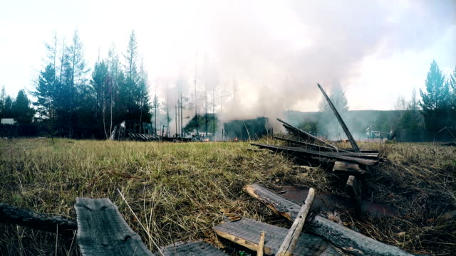 fire house near forests Full HD Footage video