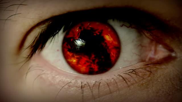 Fire in eye video