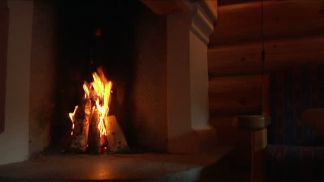stockvideo's en b-roll-footage met fire in the oven. - fireplace