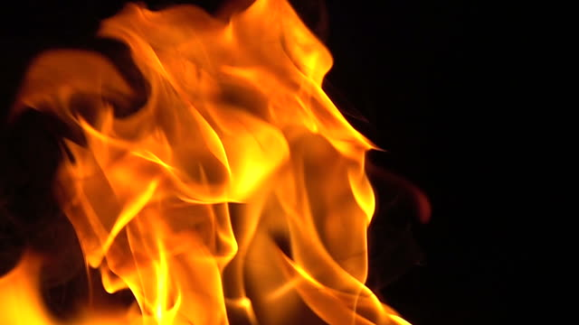Fire on black background slow motion Fire on black background slow motion effortless stock videos & royalty-free footage