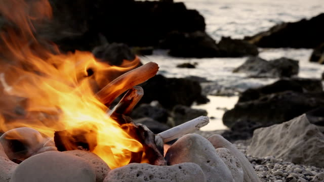 Fire on the Beach video