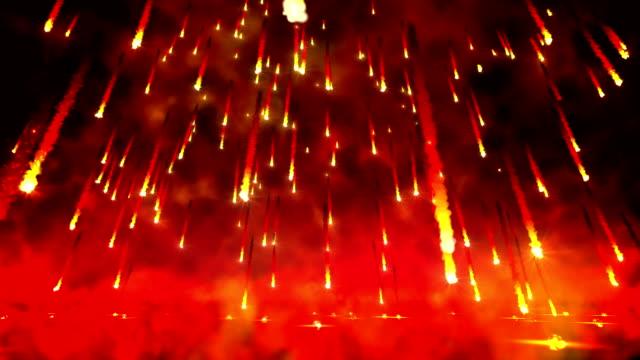 Fire rain loop video