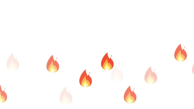 fire reaction on white and black background - emoji video stock e b–roll