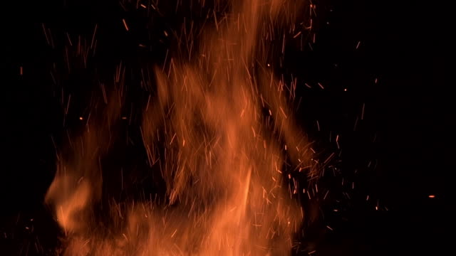Fire Ring Embers Slow Motion video