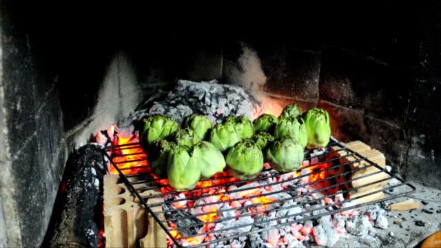 Fire roasted artichokes video