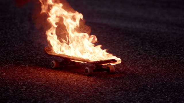fire skateboard video