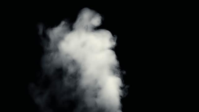 stockvideo's en b-roll-footage met vuur rook van zwarte achtergrond - schoorsteen