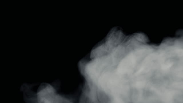 Fire Smoke from Bottom Up Black Background video