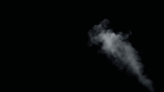 fire smoke from bottom up black background - дымоход стоковые видео и кадры b-roll