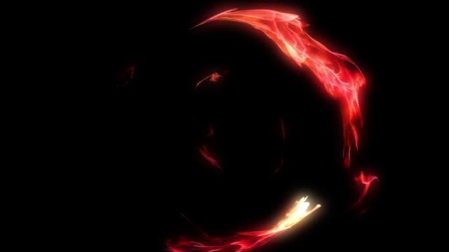 fire tunnel circle animation