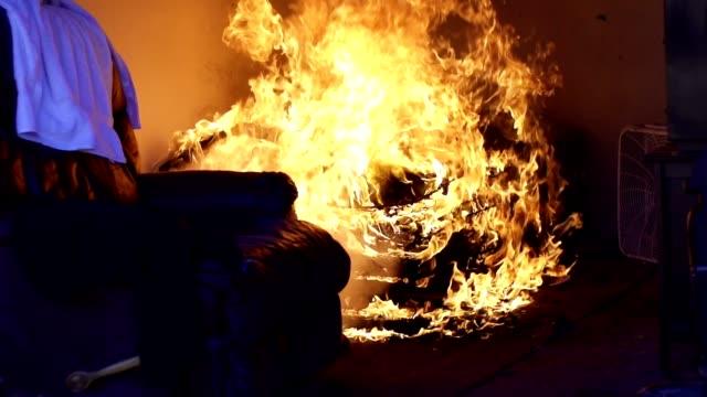 fire - incendio video stock e b–roll