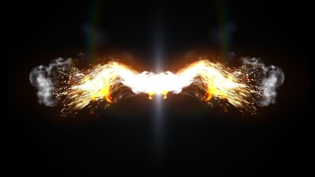 fire wings - angelo video stock e b–roll