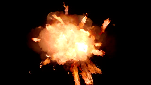 Fireball explosion, slow motion video