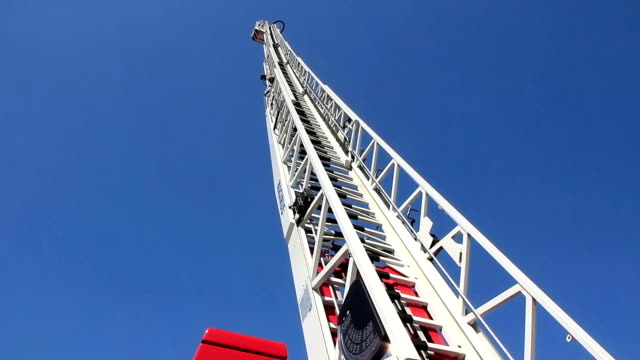 Fire-engine with big fire escape staircase video