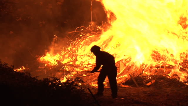 hd: firefighter at work - firefighter stock videos and b-roll footage