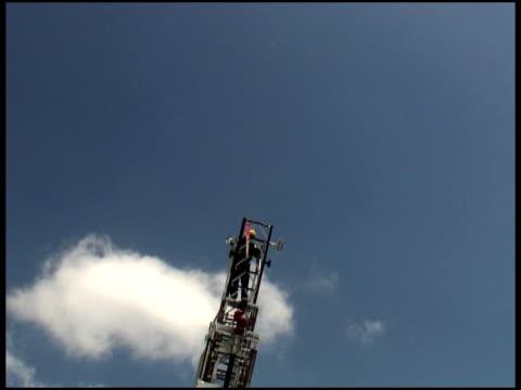 Firefighter on Rising Ladder video