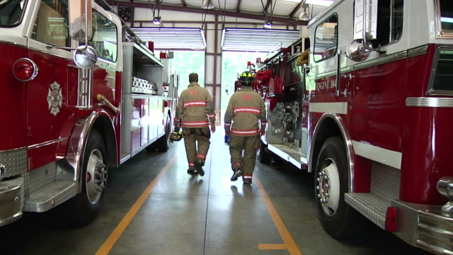 firemen at work - firefighter stock videos and b-roll footage