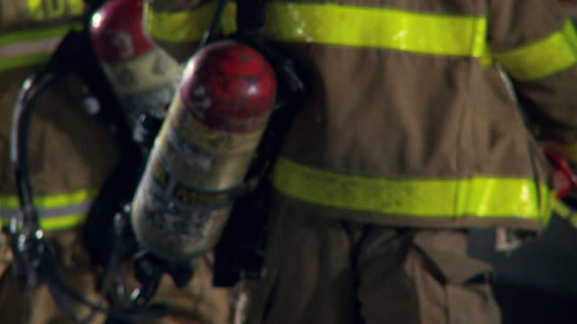 firemen walking away - firefighter stock videos and b-roll footage