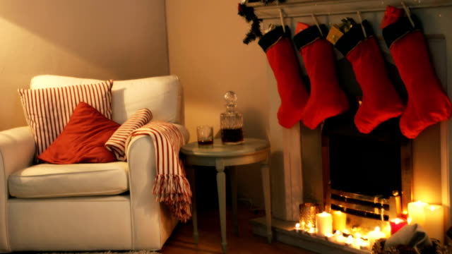 Fireplace decorate with christmas decor and ornaments video