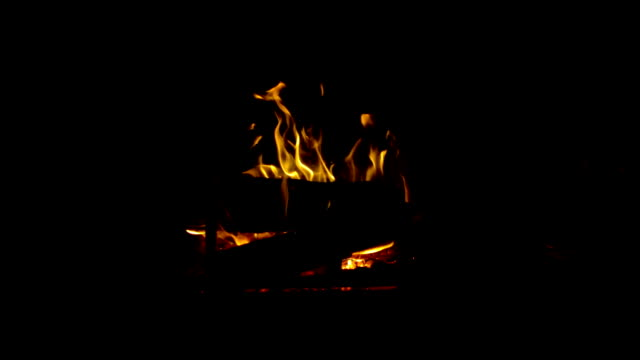 fireplace silhouette video