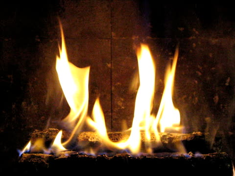 stockvideo's en b-roll-footage met fireplace - boomstam