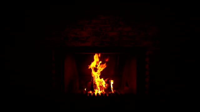 Fireplace Fireplace, slow motion. Only light the fire. Home heating. fireplace stock videos & royalty-free footage