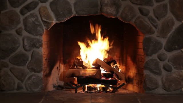Fireplace video