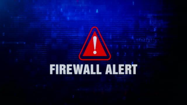 Firewall Alert Alert Warning Error Message Blinking on Screen .