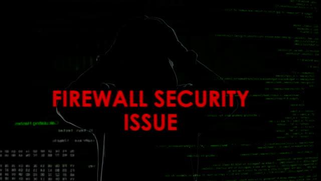 Firewall-Sicherheit-Problem, erfolglosen Versuch, Computer mit Viren zu infizieren – Video