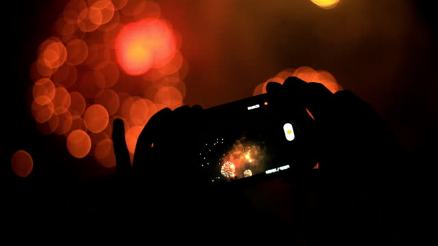 Firework and smartphone video
