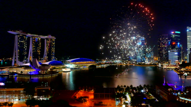 Firework at singapore city video