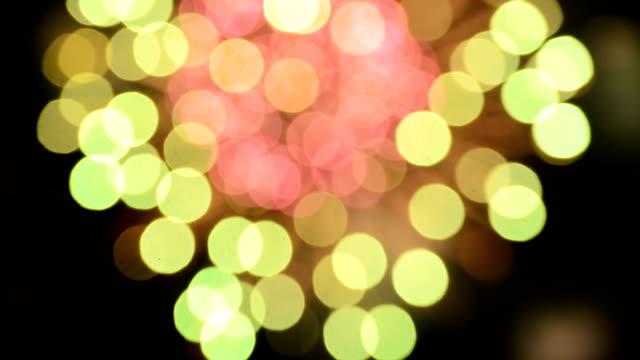 firework bokeh full hd video - luglio video stock e b–roll