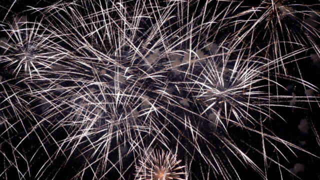 firework - concept of finale of any holiday: chinese new year, new year, christmas, wedding, birthday, valentines day, thanksgiving, independence day and brazilian carnival - independence day stock videos and b-roll footage